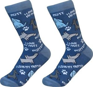 E&S Pets I Love My Mutt Pet Lovers Socks