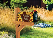 Sunflower Heart Mailbox Wrap