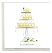Wedding Cupcake Tower Quilling Card