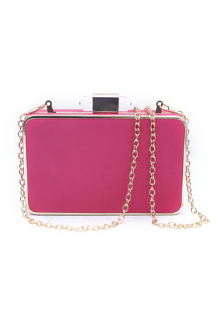 Fuchsia Hard Clutch
