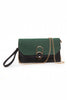 Black & Green Soft Clutch