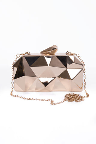 Gold Metallic Hard Clutch