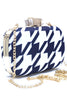 Blue & White Hard Clutch