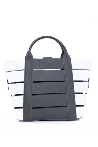 Grey & White Tote Bag