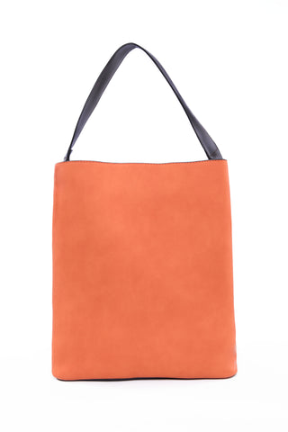 Orange & Beige Tote Bag