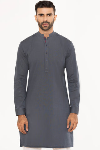 Ash and Stripes Kurta