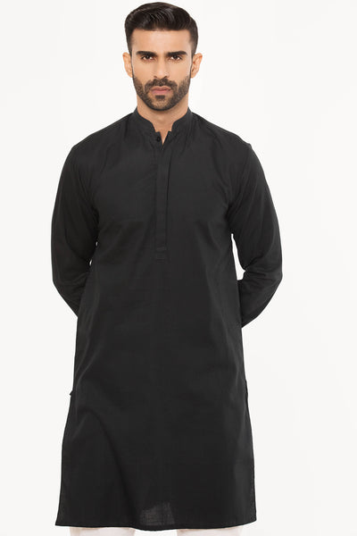 Polished Black Kurta