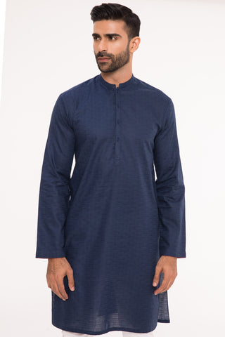 Dapper In Navy Kurta