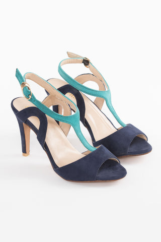 Blue & Turquoise High Heels