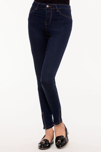 Navy Crop Slim Jeans
