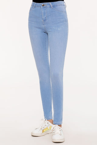 Light Wash Crop Skinny Jeans