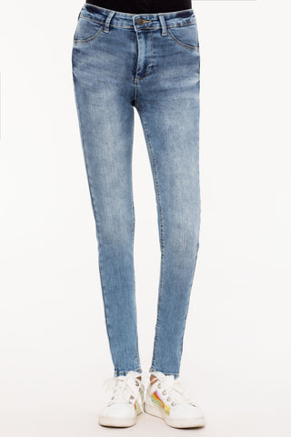Stone Washed Classic Slim Jeans
