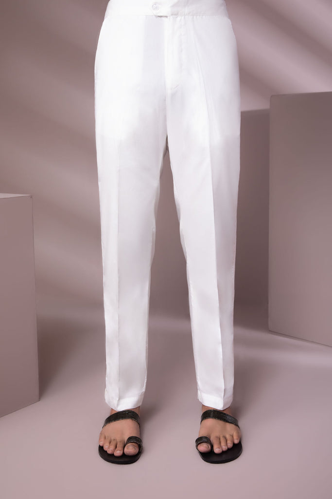 Off-White Cotton Trousers