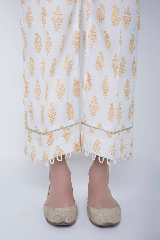Sapphire White Printed Trouser Eid Ready To Wear