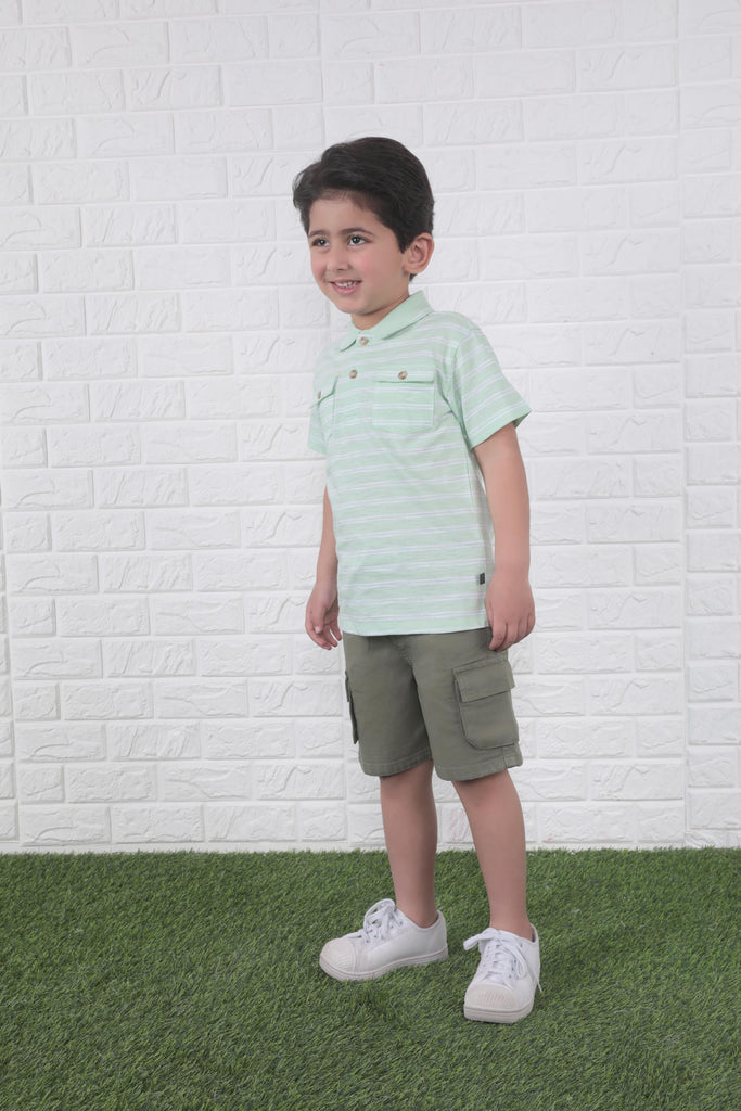 Green Jersey Polo Shirt