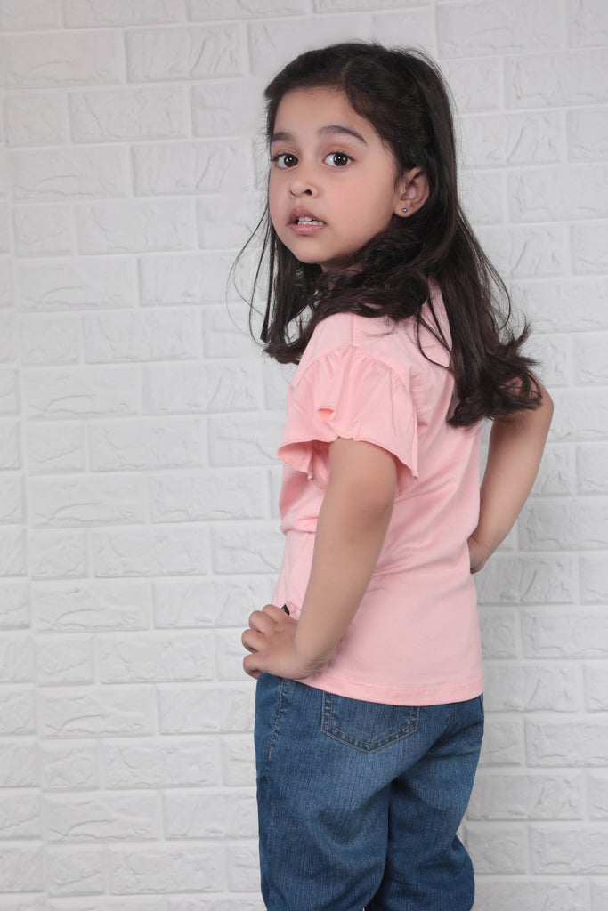 Pink T-shirt with Ruffles
