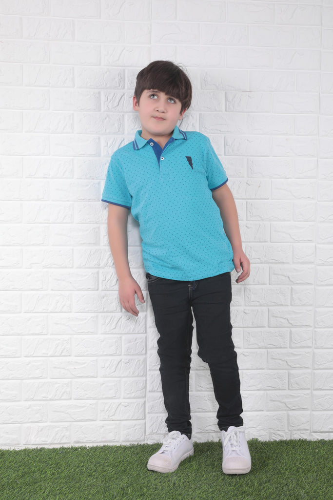 Dotted Polo Shirt  B