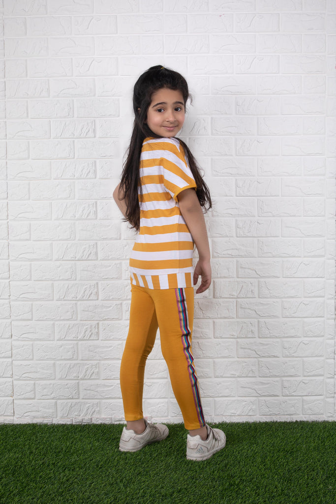 Mustard Striped Tights