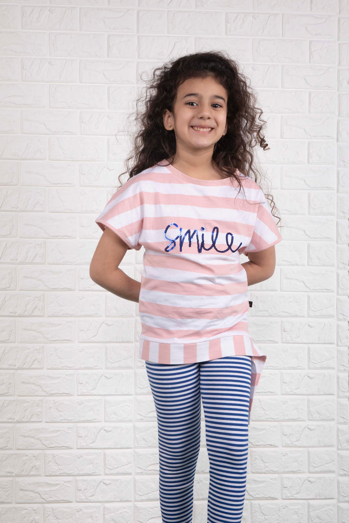 Knotted Striped T-shirt A