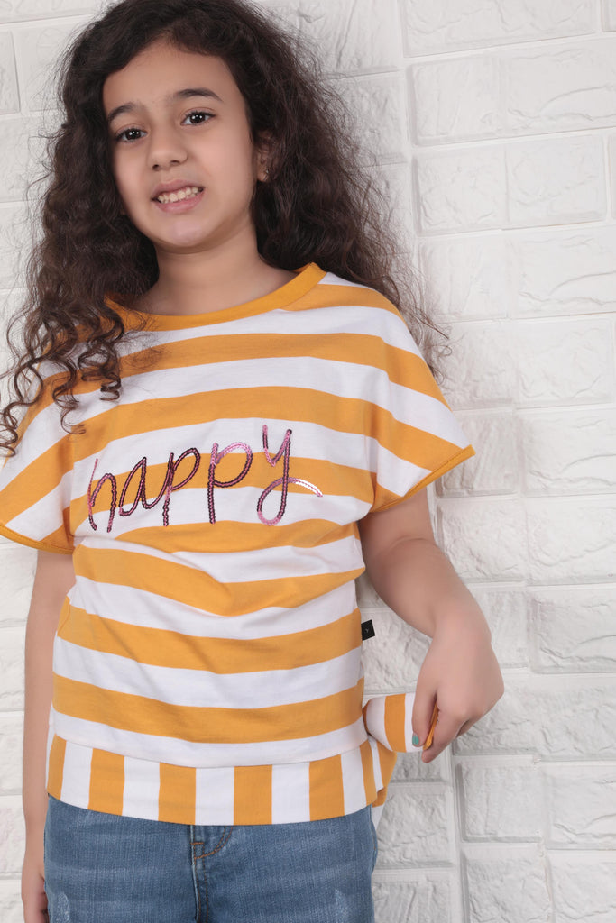 Knotted Striped T-shirt B