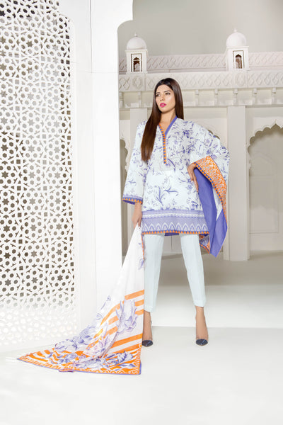 Spring Time Sapphire Lawn Collection