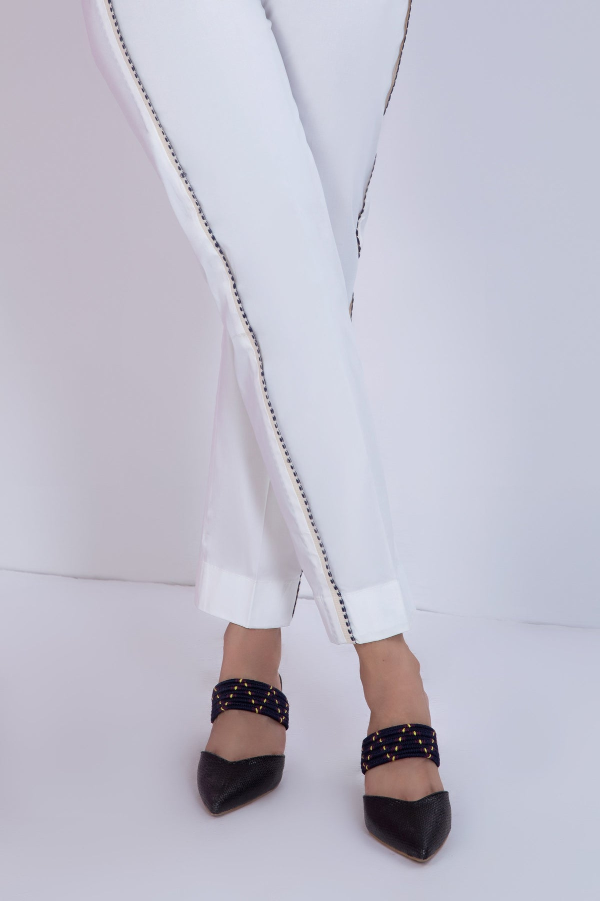Off White Trouser - Stretchable Lycra