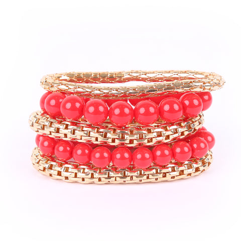 Multi-strands Red Bracelet