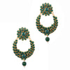 Smoky Green Earrings