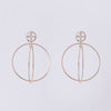 Rose Gold Interlink Earrings