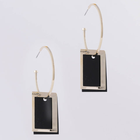 After Dark Square Earrings
