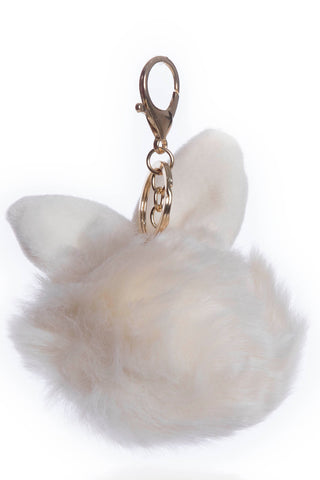 White Fur Key Chain