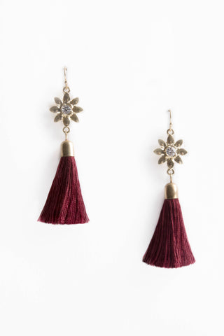 Gold/Wine EARRINGS