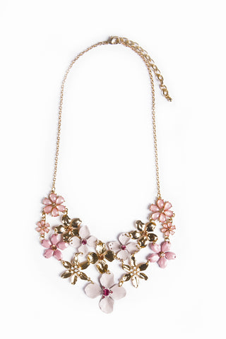 Lilac Floral Necklace