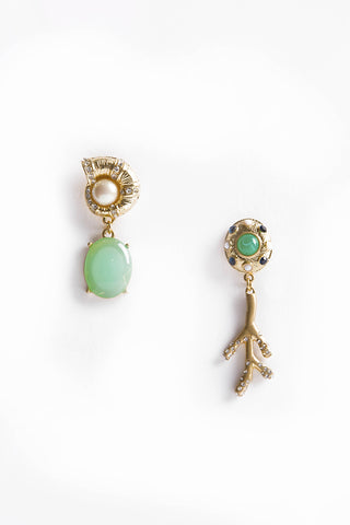 Gold/Green Earrings