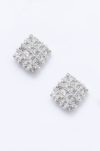 Silver Squared Studs