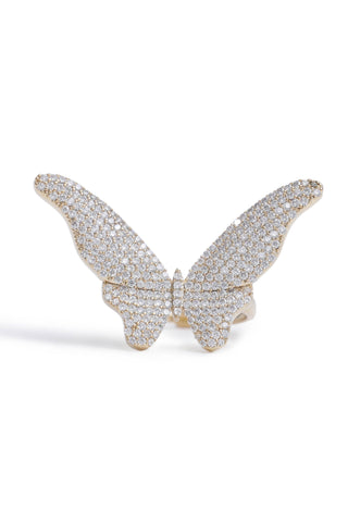Studded Butterfly Ring