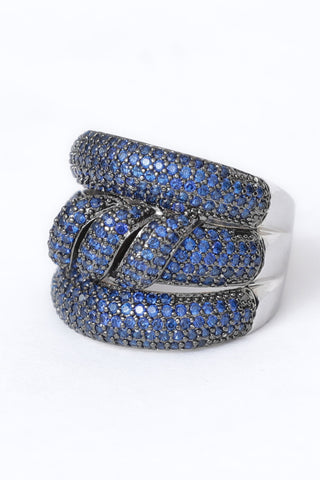 Blue Studded Ring