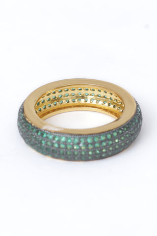 Green Studded Ring
