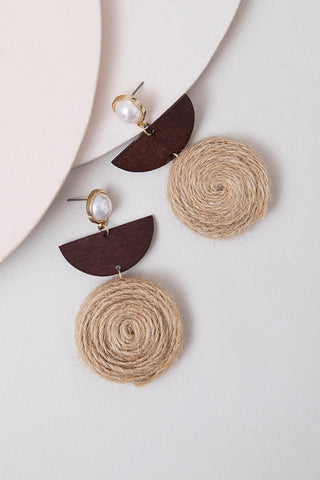 Brown Earrings