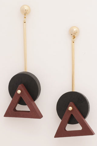 BLACK/RED EARRINGS