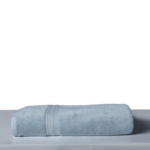 Bath Towel Solid Dyed-Light Blue