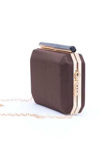 Chocolate Brown Clutch