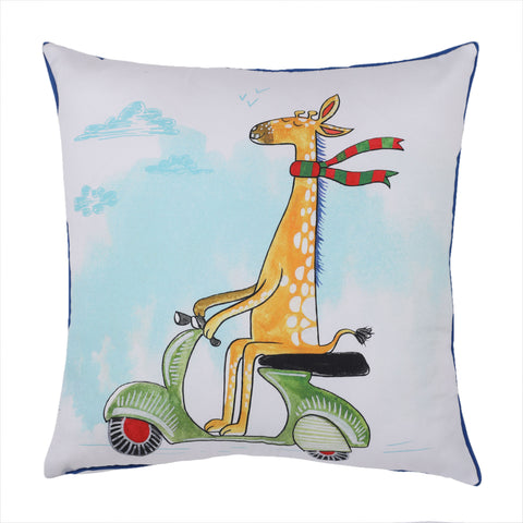 Giraffe on Wheel - Cushion Cover
