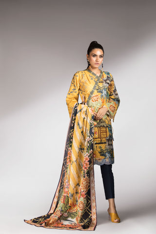 Gold Shadow Dupatta