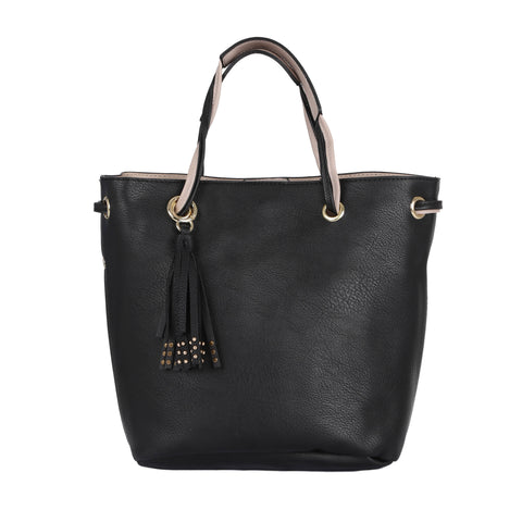 Jet Black Tote Bag