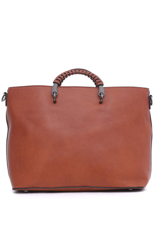 Rust Leather Tote Bag