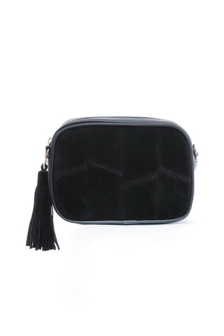 Black Suede Cross Body