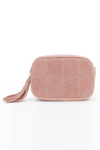 Pink Suede Cross Body