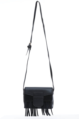 Black Tassel Cross Body