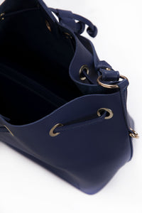 Navy Bucket Bag